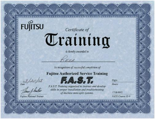 Fujitsu Authorized Service Training