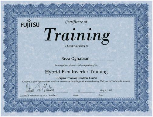 Fujitsu Hybrid Flex Inverter Training